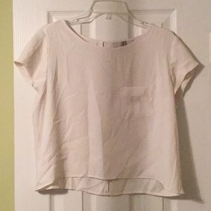 Cream cropped top